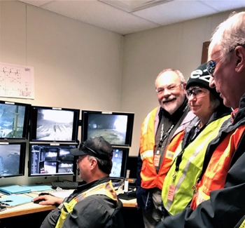 EM Site-Specific Advisory Board Chairs watched EM's targeted transuranic waste retrieval mission in real time through closed circuit television monitors at the Radioactive Waste Management Complex at the Idaho National Laboratory Site.