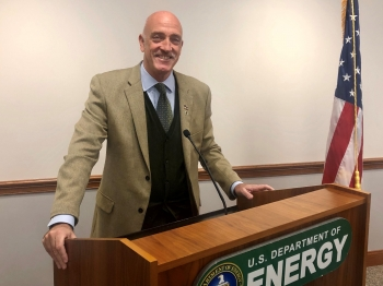 Jay Tilden, NNSA's Associate Administrator and Deputy Under Secretary for Counterterrorism and Counterproliferation, served as keynote speaker at the Department of Energy's Veterans Day Commemorative Program.