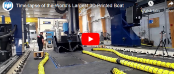 a screenshot of a youtube video - University of Maine Unveils World's Largest 3D Printer