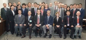 Participants in the annual Nuclear Energy Disaster Prevention Drill in Shimane, Japan.