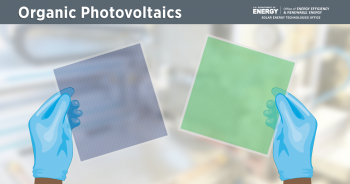 Organic photovoltaics (OPV) are lightweight solar cells made with carbon compounds that can be dissolved and solution-processed