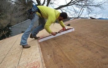 Attic retrofits using nail-base insulated panels.