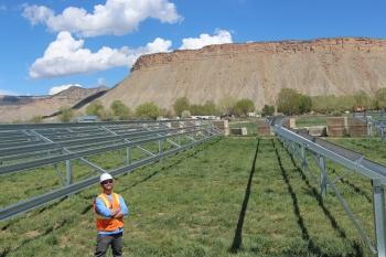 Ute Mountain Ute solar installation.