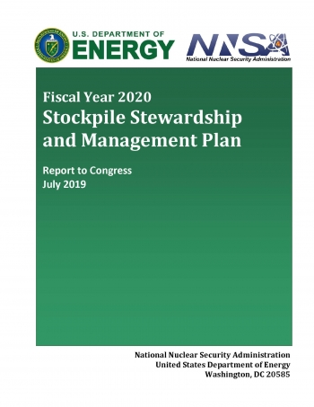 Cover of the FY2020 Stockpile Stewardship and Management Plan