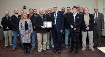 A Y-12 National Security Complex team recently received an NNSA Defense Programs Award for its work in deactivating 16 uranium processing systems in Building 9206.