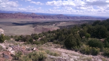 Overview of the open pit mine site on Lease Tract C-JD-7