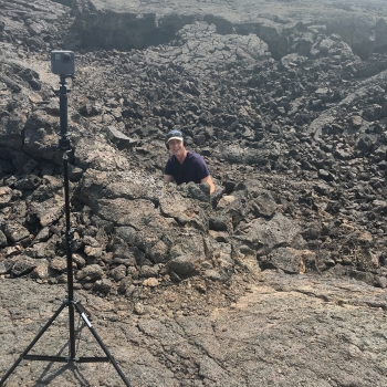 """One """"Science Trek"""" segment focused on a visit by Apollo program astronauts to Idaho's Craters of the Moon National Monument."""