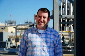 Savannah River Remediation Project Controls Specialist Patrick Cunning pictured at F Tank Farm.