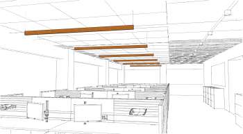Sketch of the Sustainable Manufacturing of Luminaires Prize-winning product.
