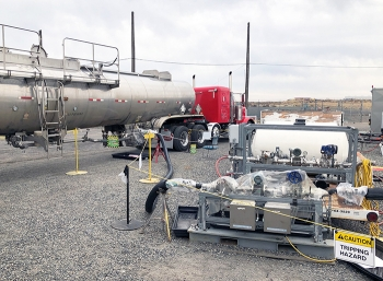 Adding a heavy liquid to float waste in a Hanford tank so it could be pumped out was the most challenging step in preparing the tank to support 24/7 operations at a nearby facility that will start turning the waste into glass by the end of 2023.