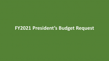 FY2021 President's Budget Request