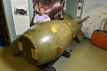 """.S. Air Force Capt. Antonio Gallop is the first """"Education With Industry"""" student at Sandia National Laboratories."""
