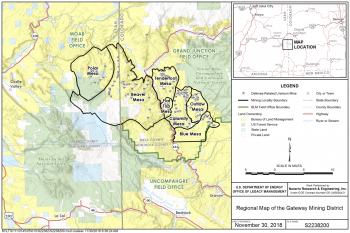 Regional Map of the Gateway Mining District Project Area