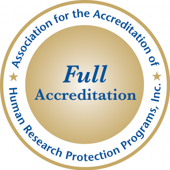 Association for the Accreditation of Human Research Protection Programs accreditation badge
