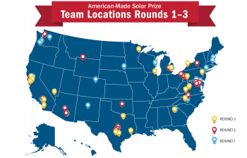 American-Made Solar Prize Team Locations Rounds 1-3