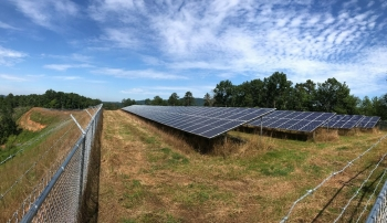 Eastern Band of Cherokee Indians' solar installation.