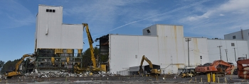 Oak Ridge crews began demolishing the K-1200 section of the Centrifuge Complex at the East Tennessee Technology Park this month.