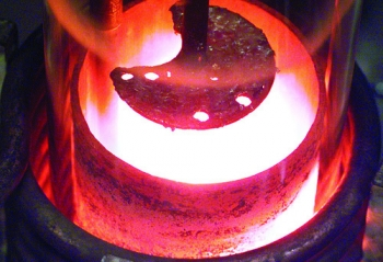 Molten plutonium at Los Alamos National Laboratory