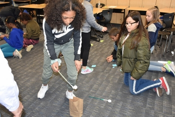 Engineers from EM Office of River Protection tank operations contractor Washington River Protection Solutions (WRPS) visited a fifth-grade class at Sacajawea Elementary School in Richland, Washington during Engineers Week.