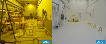 Since 2015, workers on the Hanford Site have cleaned out a portion of the Waste Encapsulation and Storage Facility to prepare to transfer radioactive capsules from an underwater basin to safer, dry storage.