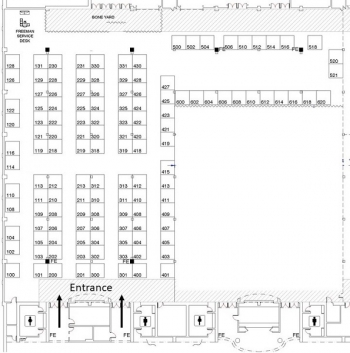 DOE2020 Exhibit Hall Floor Plan