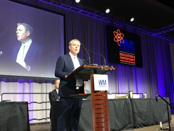 Office of Environmental Management senior adviser Ike White outlined the Department of Energy's strategic vision for environmental cleanup to more than 2,000 attendees at the Waste Management Symposia 2020.
