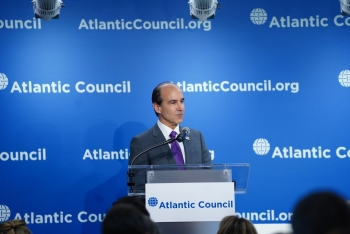 Under Secretary Mark W. Menezes speaks at event.