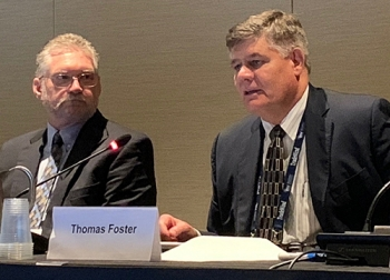 Stuart MacVean, president and CEO of Savannah River Nuclear Solutions, and Tom Foster, chief operating officer of Amentum's nuclear and environment strategic business unit, highlighted the major work contractors perform at the Savannah River Site.