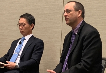 "Todd Shrader, at right, EM principal deputy assistant secretary, called liquid waste treatment ""the last big piece of the EM mission."""