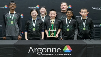 The winning team at the Illinois Regional Science Bowl