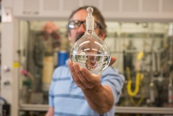 PNNL researcher Rich Hallen helped develop a process that converts ethanol to jet fuel.