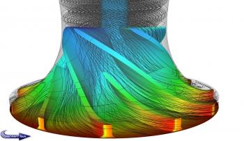 Velocity streamlines illustrating Tip Gap Leakage on Sandia sCO2 impeller