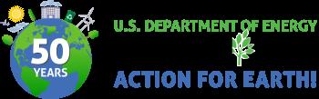 DOE Earth Day Logo - 50th Anniversary