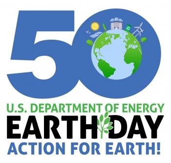 DOE 50th Earth Day Logo