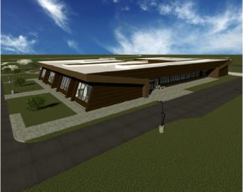 Rendering Weldon Spring Site Interpretive Center and Office Complex