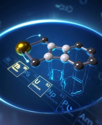 The known analogues of biphenylene are associated with carbon-rich compounds. The new metallabiphenylenes are based on uranium and thorium and appear to be the first of their kind.