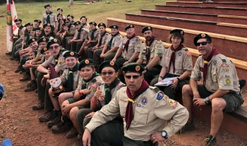 Adam DaeGorn, a Federal Project Manager with NNSA's Nevada Field Office, helps lead the Boy Scouts in Troop 130.
