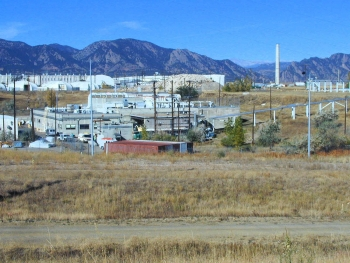 The area around Building 991 at the Rocky Flats, Colorado, Site in 2003.