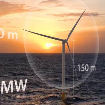 Illustration of a new turbine model.