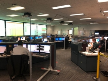 Certain work areas have undergone significant changes, such as NIF's Control Room, which now has partitions, extended spacing and defined one-way movement to keep workers safe, along with restructured operations to lower the number of people present.