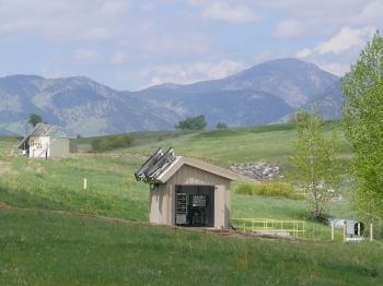 Rocky Flats Site solar-powered water treatment system.