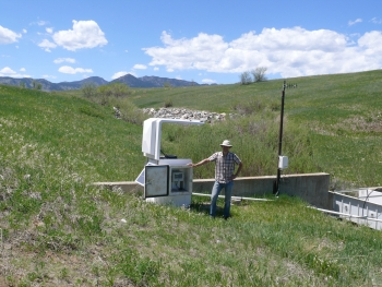 George Squibb at the Rocky Flats Site surface water monitoring unit.