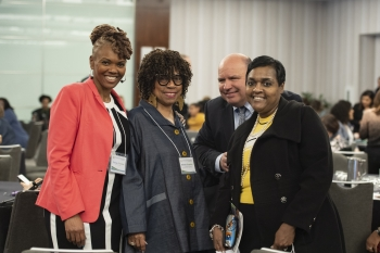 From left to right, Denise Freeman (LM communications liaison); Melinda Downing (EJ program manager); Peter O'Konski (LM deputy director); and Ingrid Colbert (LM Finance, Audits, and Contracts Services).
