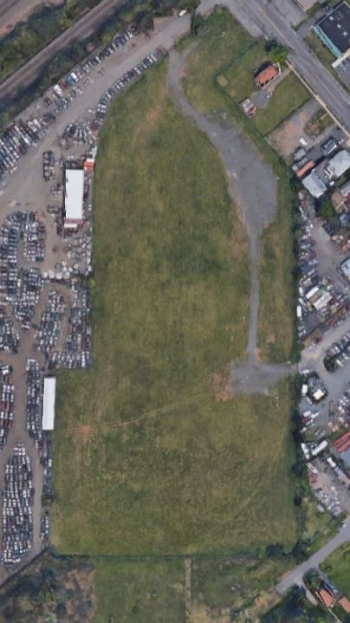 An aerial view of the Middlesex South, New Jersey, FUSRAP site.