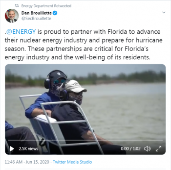 Secretary Brouillette twitter account link