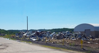 A view of the remains from the demolition of the Segmentation Shop as Oak Ridge crews come closer to achieving Vision 2020. Cleanup efforts at the East Tennessee Technology Park will remove more than 13 million square feet of facilities.