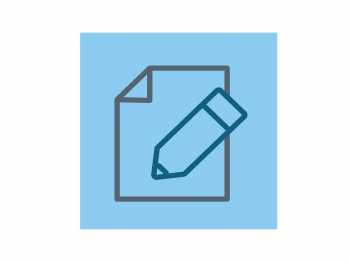 Icon of a paper and pencil.
