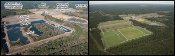 The D Area Ash Project completed in Aiken, SC in June 2019 included closure of almost 90 acres of coal ash and contaminated soil through excavation, consolidation and placement of geosynthetic covers. The project was completed at almost $8M under budget.