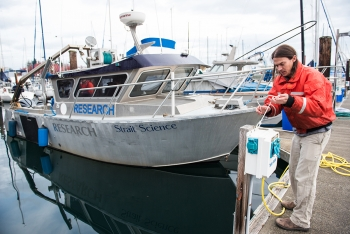 Garrett Staines conducts ocean research.