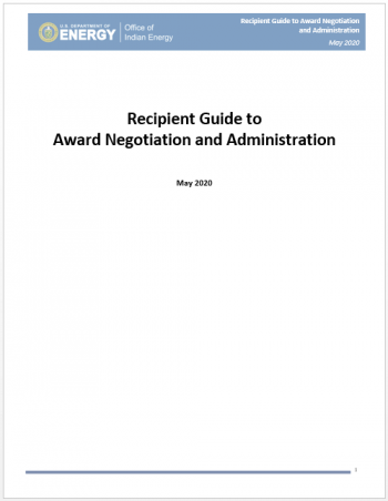 Cover image of the recipient award report.